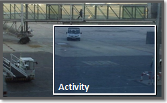 Video analytics activity detection in an area, on the edge.