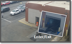 Video analytics enter/exit detection and people counting in a shopping area, on the edge.