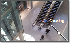Video analytics directional line crossing, on the edge.