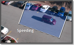 Video analytics speeding object detection, vehicle speed, on the edge.