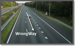 Video analytics wrong way or direction detection, on the edge.