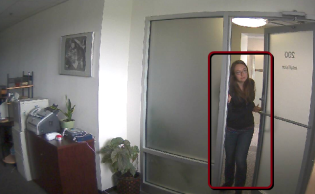 intuVision Core video analytics detect person tresspassing into secure facility after hours.