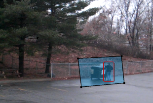 intuVision Core video analytics detect person tresspassing into a zone.