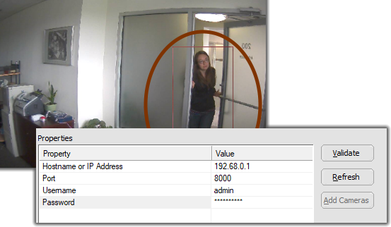 adding cameras from hikvision