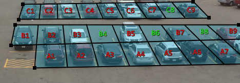 Effortlessly place video analytic parking zones over spots in your parking area to determine occupancy or duration parked.