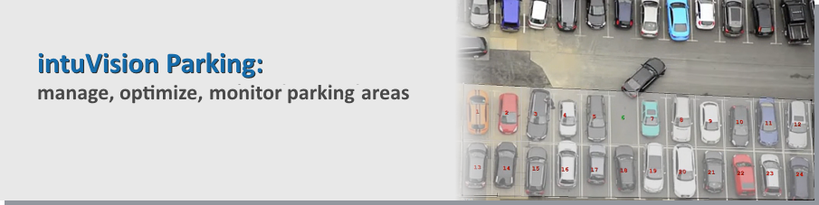 Video analytics manage, optimize, and track parking areas.