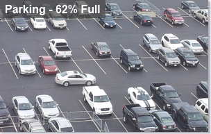 intuVision parking video analytics automatically secure and monitor parking area, determining percent occupancy.