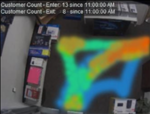 Video analytics generate people counts and intuitive heatmaps in your retail locations.