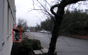 intuVision security video analytics detect after hours suspicious loitering outside facility.